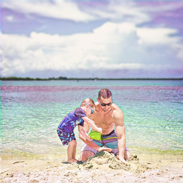 Building sand castles #daddy #love #family #dad #daughter #baby