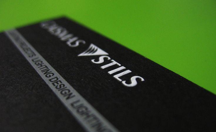 Relief business card for lightning studio / Reljefa druka uz vizītkartes gaismas studijai / Рельеф на визитке