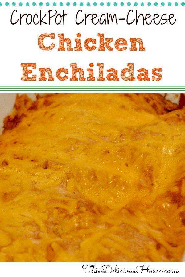 Cream Cheese Chicken Enchiladas With Sour Cream Red Sauce Todieforchickenenchilad Cream Cheese Chicken Enchiladas Cream Cheese Chicken Cream Cheese Enchiladas