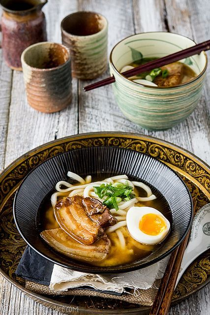 Recipe: Stewed Pork Belly with Japanese Udon Noodle