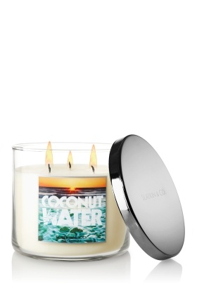 Slatkin & Co. 14.5 oz. 3-Wick Candle   Coconut Water, $19.50    smells delicious!!!