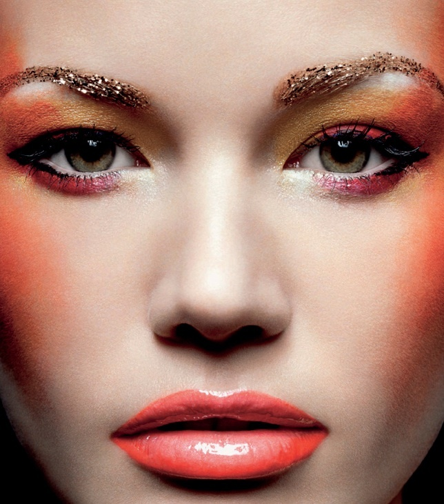 """""""Shades of Hue"""" from Volt Magazine. Creative makeup concept playing with orange hues."""