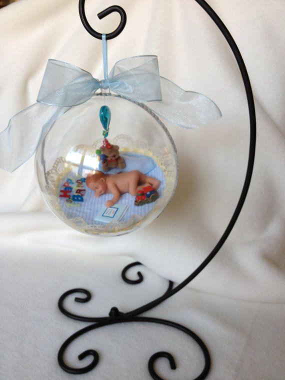 Happy First Birthday Baby...Polymer Life Like by pattispeanuts, $62.00