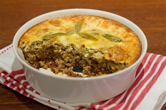 Bobotie - South African comfort food...delicious, perfect for cold weather & you could change up the seasoning quite a bit