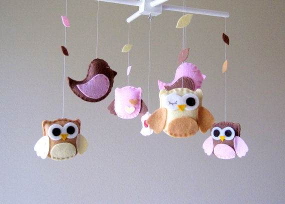 Super cute! | Baby crib mobile, Owl mobile, Baby cribs