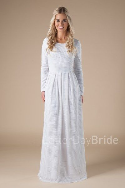 75a3061ba82e7 Saratoga in 2019   Outfitted   Temple dress, Lds temple clothing ...