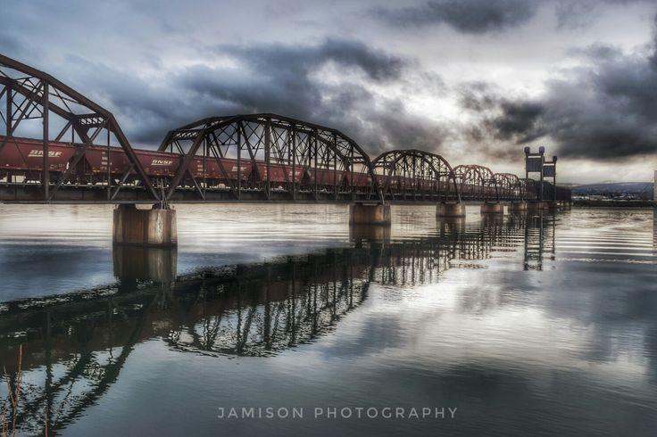Pasco / Kennewick train bridge ♡  Pasco Washington