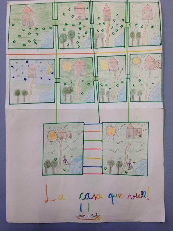 POEMA VISUAL: LA CASA QUE VULL- Material: paper, colors, tisores, cola, altres materials - Nivell: 5PRI CS 2015-16 Escola Pia Balmes