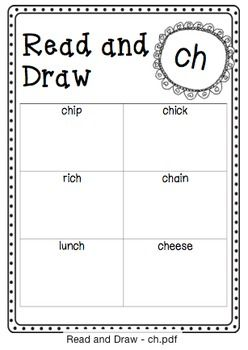 Read and Draw - ch   Follows the UK Letters and Sounds program. Phase 3