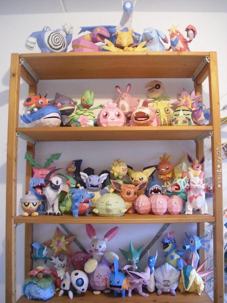 that's a lot of pokemon papercraft...