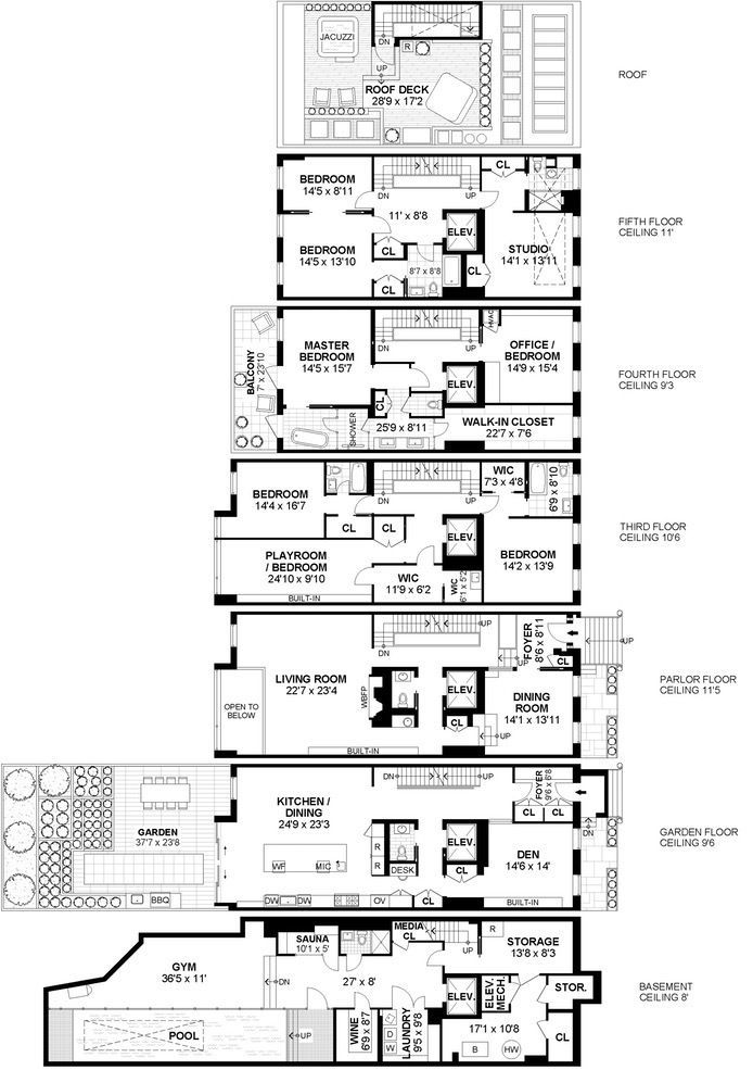 After Renovation 19th Century Greenwich Village Townhouse Wants 28m Mansion Floor Plan Apartment Floor Plans Brownstone Interiors