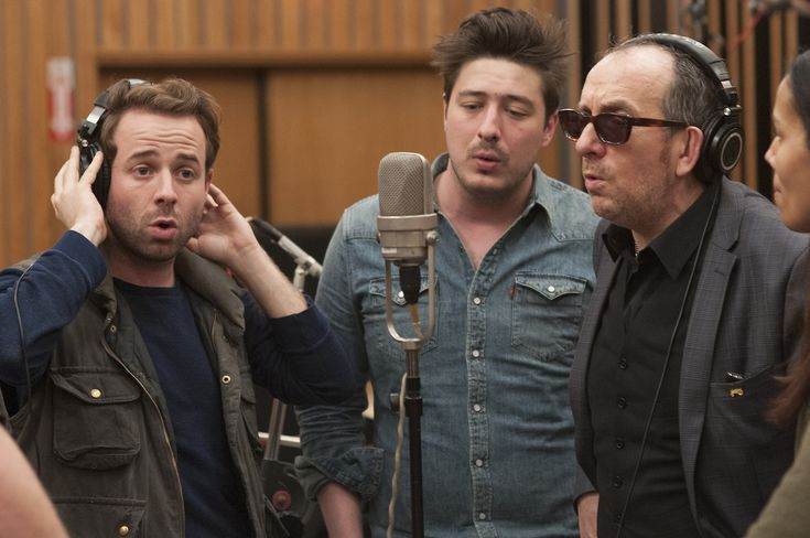 Taylor Goldsmith, Elvis Costello & Marcus Mumford Photo Credit: Merrick Morton/Showtime © 2014 Showtime