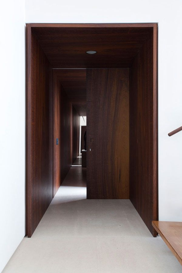 Great example of door linings and shadow gap.  Felipe hess fran parente mid century modern interiors