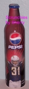 Antonio Cromartie 31 Chargers Pepsi Aluminum Bottle NFL Football