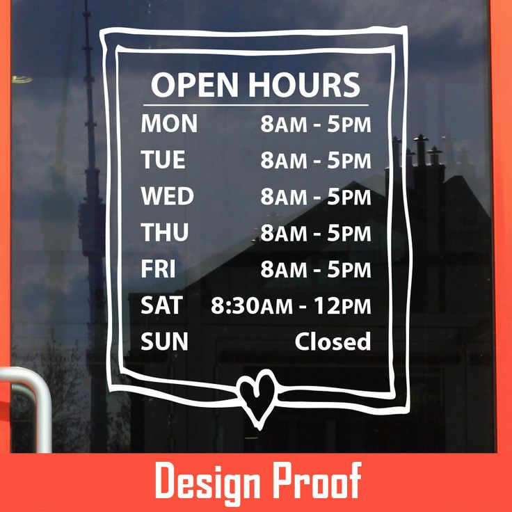 Best Business Hour Gallery Images On Pinterest Custom Vinyl - Custom vinyl signs