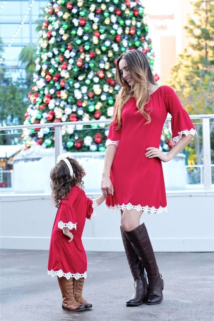 Adorable matching mommy and me holiday dresses! #inspiredbyyou