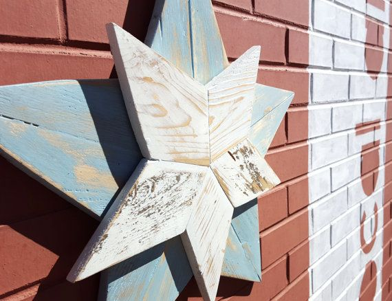This Five Point Star is made by our artisans in Colorado Springs from reclaimed  wood and - Reclaimed Wood Five Point Blue Star Five Points, Colorado