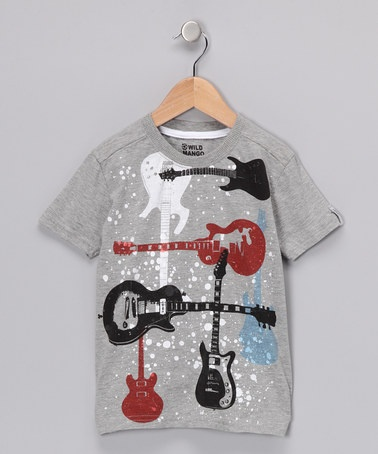 Take a look at this Gray Rock Guitar Tee - Toddler & Boys by Wild Mango Clothing Co. on #zulily today!