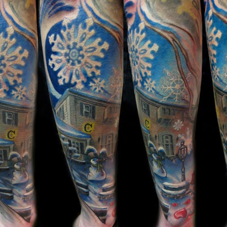 http://tattoomagz.com/cool-winter-tattoos/lovely-home-of-winter-tattoo/