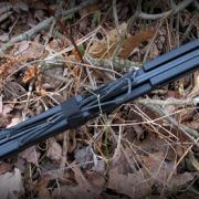 The patented 55 lb Compact Folding Survival Bow, also known as the Go Primal Bow, can be converted from right hand to left hand. Made in the USA.