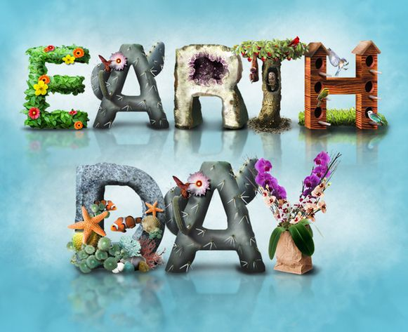 Grass Letters Forming Words Earth Day Stock Illustration 407466853 ...