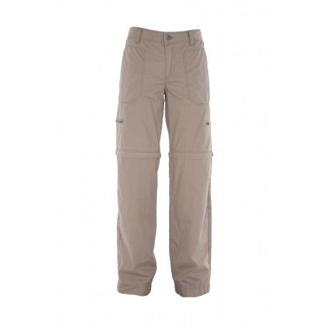 The Rare Earth Women's Lucia Trousers are zip-off pants that convert from full length trousers into shorts by unzipping the lower legs. It's ideal for travel.