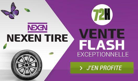 VENTE FLASH NEXEN ! Nexen est une marque de pneus privilégiée par les plus grands constructeurs mondiaux tels que Volkswagen, Renault, ou encore Fiat pour équiper leurs véhicules en première monte. Profitez de notre Vente Flash NEXEN et bénéficiez de tarifs exceptionnels sur les pneus tourisme, 4x4 et utilitaire. Ne passez pas à côté, les stocks sont limités !