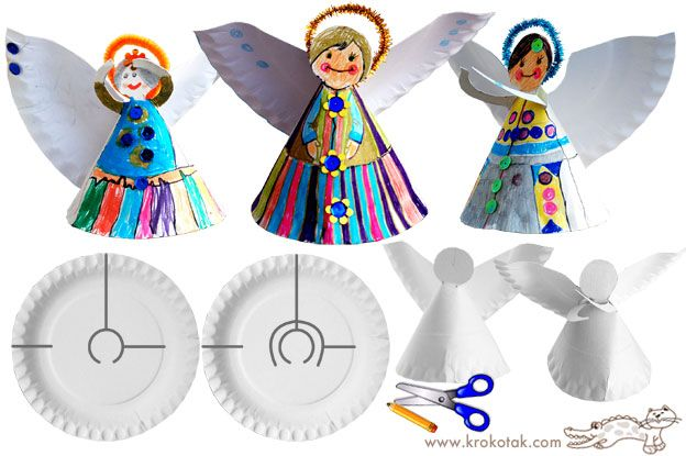 Paper plate angels and more