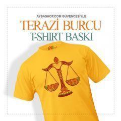 Terazi Burcu Tasarımlı T Shirt Baskı