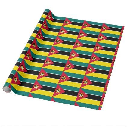 Mozambique Flag Wrapping Paper - craft supplies diy custom design supply special