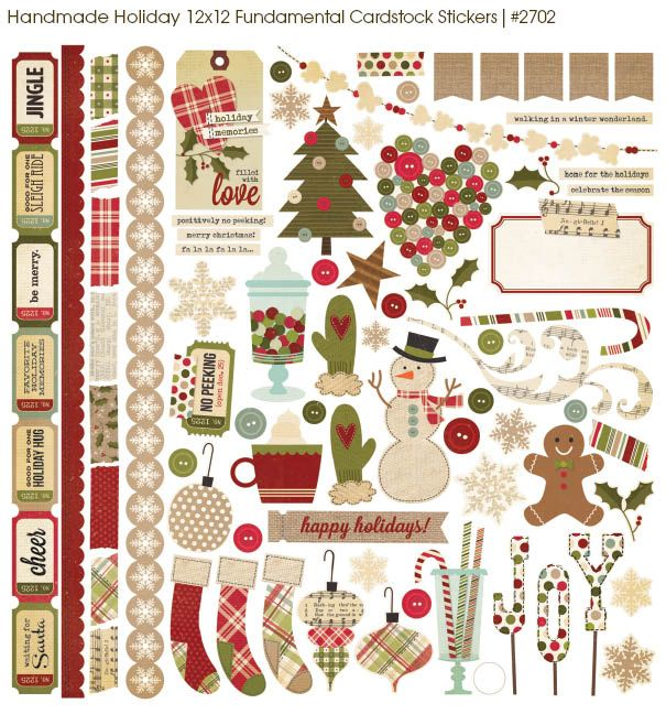 Simple Stories HANDMADE HOLIDAY Collection #scrapbooking #chashow