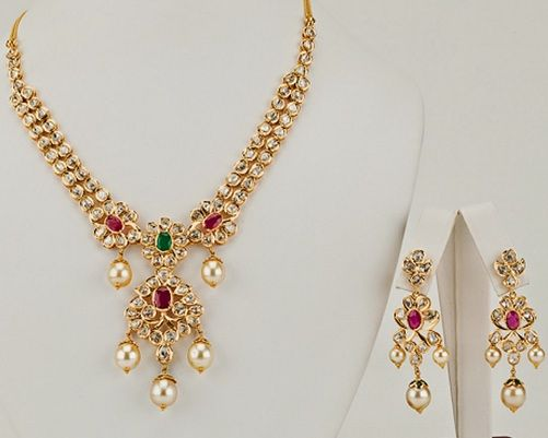 1c4adf859dc8a6 15 Latest Gold Necklace Designs in 15 Grams | Jewelry | Gold rings ...