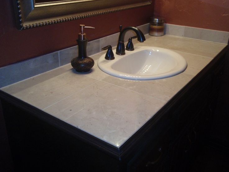 Custom Tile Vanity Top   Fresh Ideas Home Improvement | Re Do Guest Bathroom  | Pinterest | Vanities, Bathroom Vanities And Bathroom Countertops