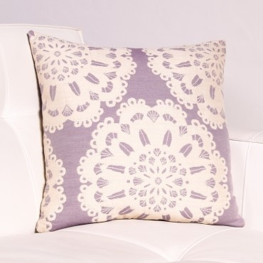 Lilac Normandy Lace Pillow The look of lace makes a modern impression in the mattelasse pillow ...