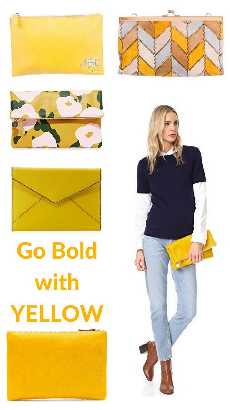 I love sewing bags and I found the most amasing yellow leather and now I know what I'll sew.  Yellow clutch bag ideas  afflink
