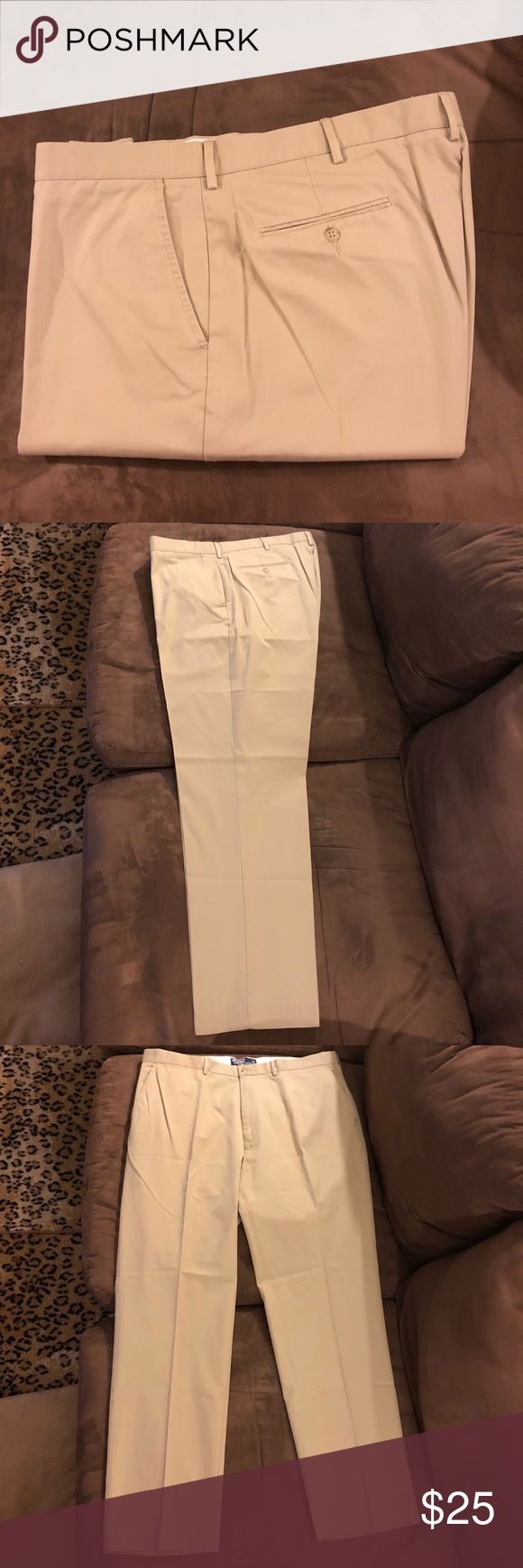 Polo Ralph Lauren Khaki Tan Chino Pants 38x32 Polo Ralph Lauren Solid Khaki Tan Chino Pants size 38x32, Flat Front and Plain bottom! Great condition! Please make reasonable offers and bundle! Ask questions! Polo by Ralph Lauren Pants Chinos & Khakis