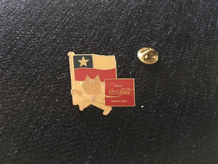 Pin pinback button Chile cobi mascot w/flag Barcelona 1992 Olympic pin CocaCola   | eBay