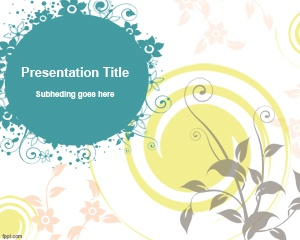 flowers powerpoint background template  #free ppt template