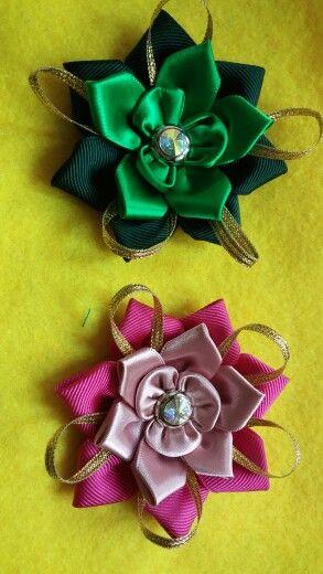 Kanzashi flowers^^
