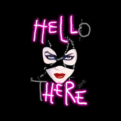 Hell Here! Catwoman Art Print