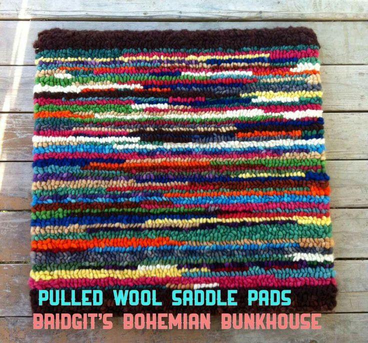 Pulled Wool Saddle Pads www.facebook.com/bridgitsbohemianbunkhouse