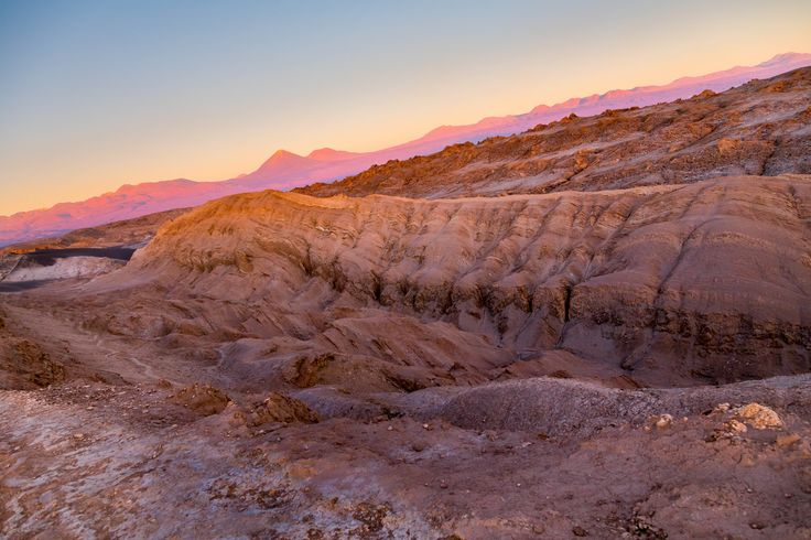 Atardecer desde lo alto del Valle de la Luna, San Pedro de Atacama.