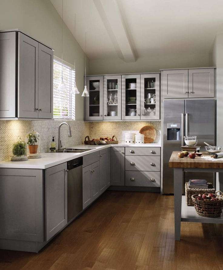Schrock Grey Kitchen Cabinets   Traditional   Kitchen   Other Metro   MasterBrand  Cabinets, Inc.