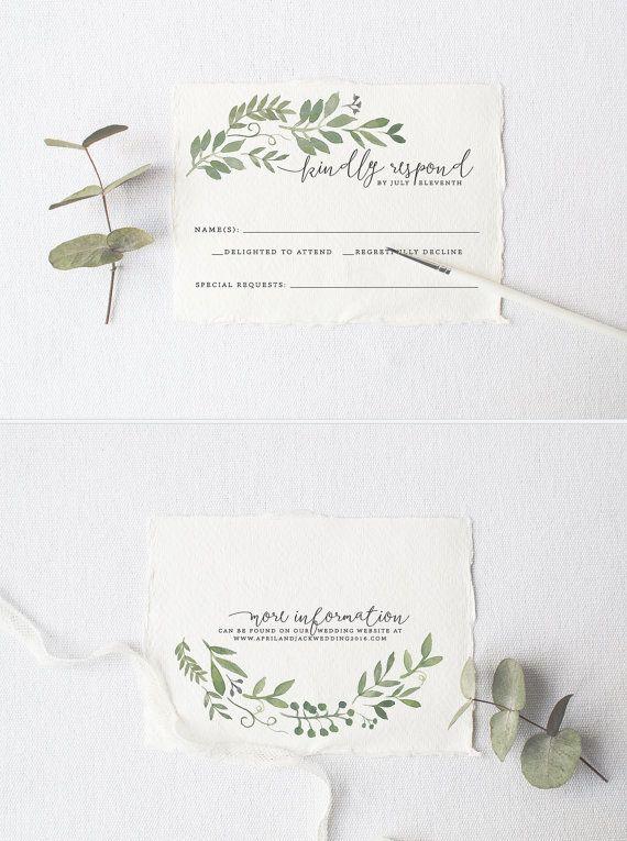 Garden Wedding Invitation Suite DEPOSIT, DIY, Rustic, Woodland, Bohemian, Boho…