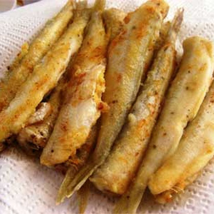 Simple and easy fried smelt or capelin yummly recipes for Easy fish fry recipe