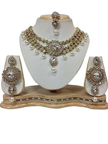 Indian Bollywood White Pearls Gold Plated Party Wear Neck... https://www.amazon.com/dp/B01MUCBMTV/ref=cm_sw_r_pi_dp_x_eYDHybF2YGZ53
