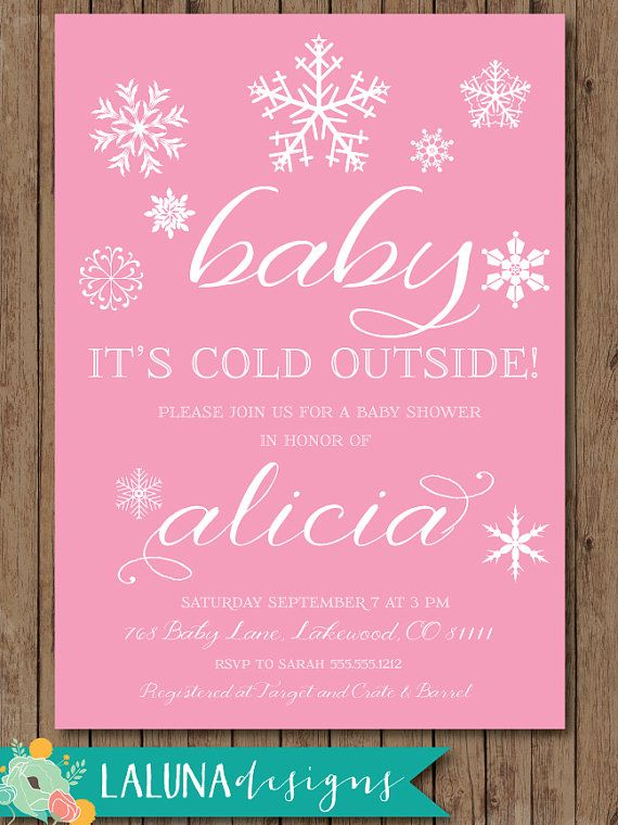 Winter Baby Shower Invitation, Baby Itu0027s Cold Outside, Snowflake Baby Shower  Invite, Baby