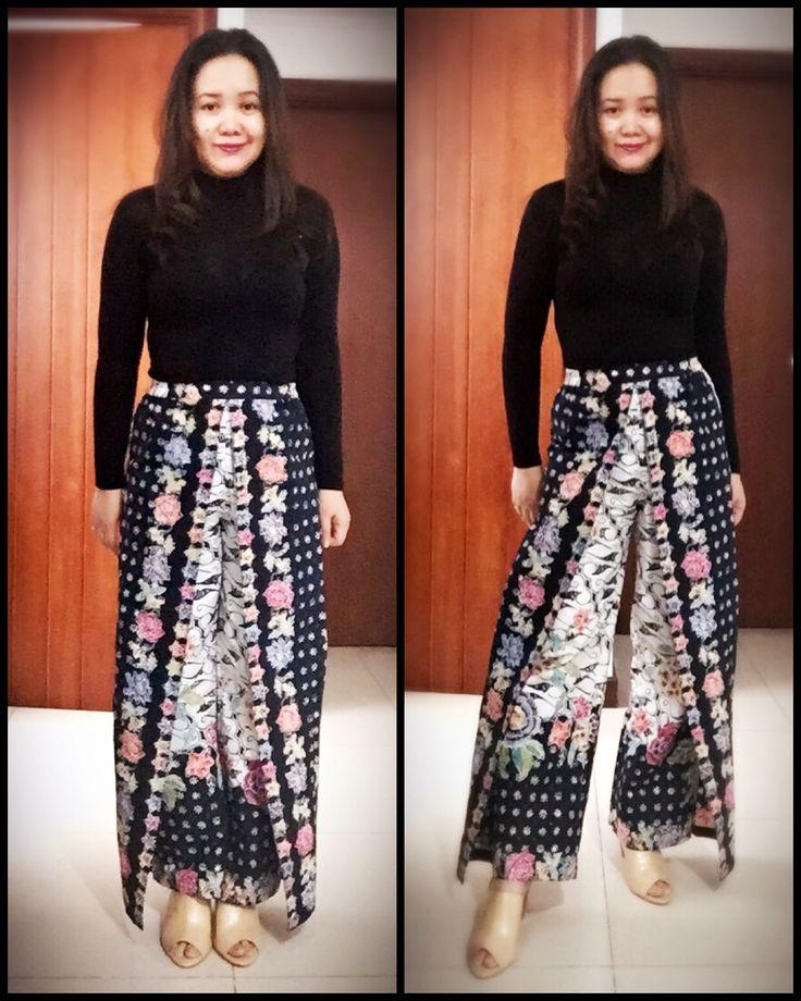 Hokokkai batik cullote by Zanty
