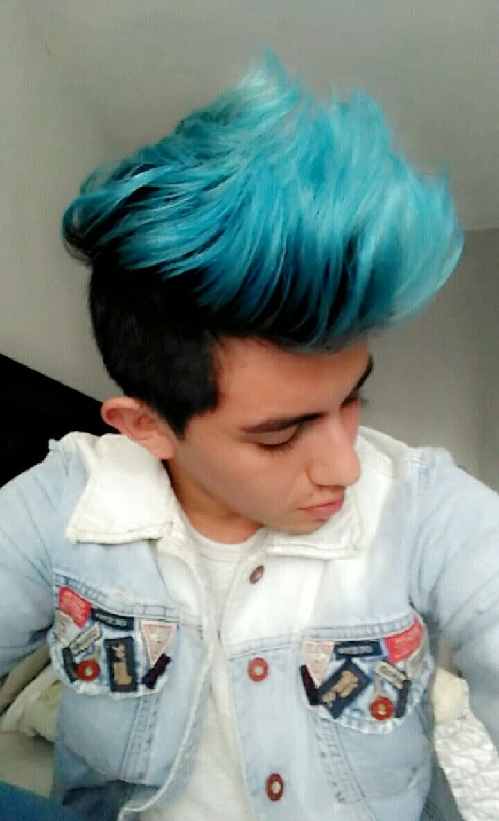 Cabello Azul Para Hombres Blue Hair Men Hairstyle Youtube