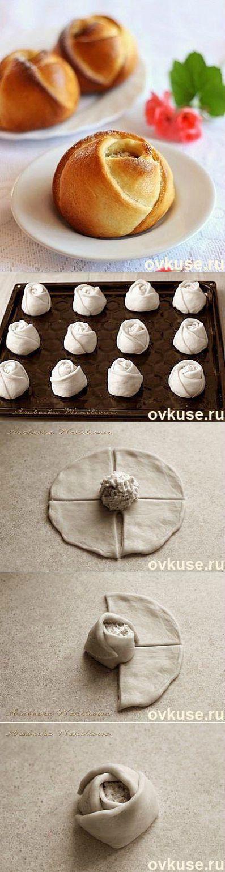 Булочки Розочки petits pâtés en forme de roses